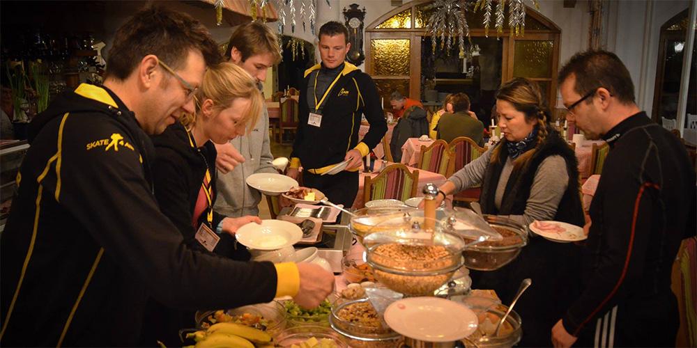 Mahlzeit am reichhaltigen Buffet - nicht nur im Winter.