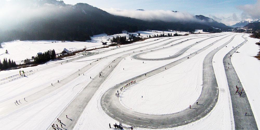 Eislauf-Arena am Weissensee ©werbeagentur as1